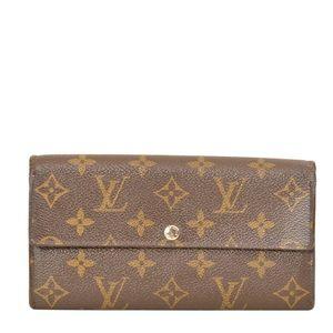 Louis Vuitton Monogram Porte Feuille Sarah Wallet